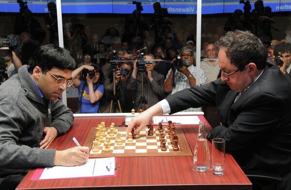 World title match betweenViswanathan Anand and Boris Gelfand - Sputnik International