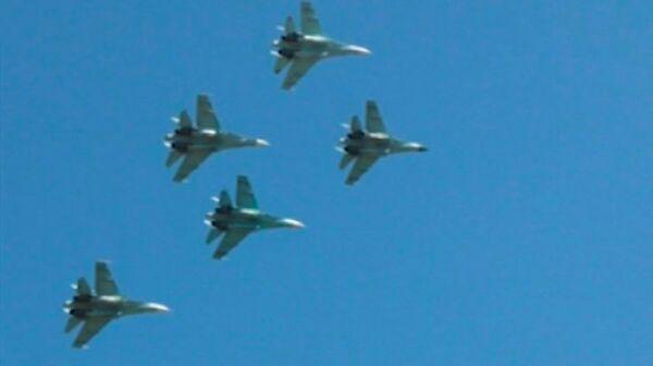 Su-27 and MiG-29 Fighters Perform in the Skies over Ingushetia  - Sputnik International
