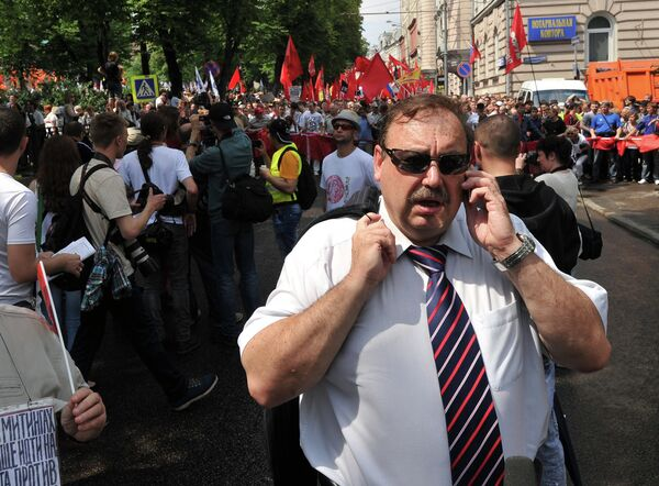 Gennady Gudkov at Opposition Rally in Moscow (archive) - Sputnik International
