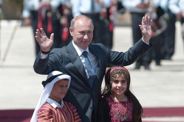 Vladimir Putin in Bethlehem  - Sputnik International
