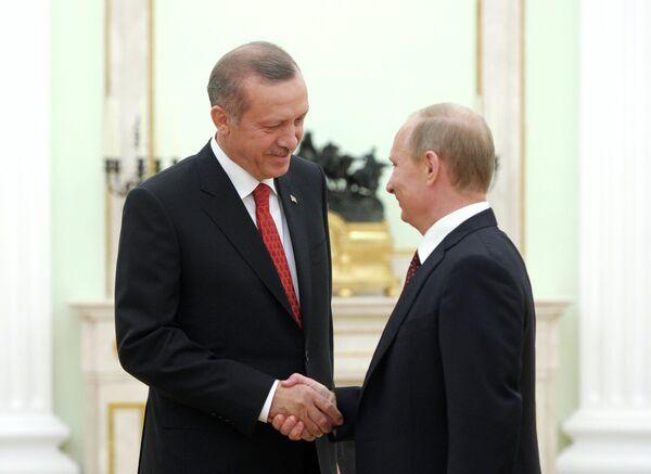Recep Tayyip Erdogan and Vladimir Putin - Sputnik International