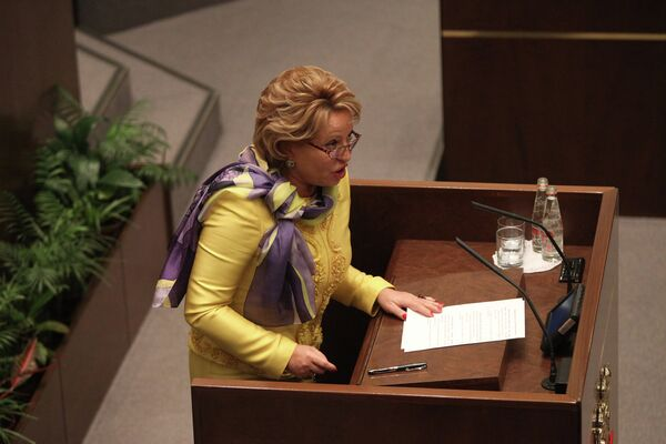 Valentina Matviyenko, the speaker of the upper house of parliament, the Federation Council, topped the list of Russia's 100 most influential women in 2012, compiled by Ekho Moskvy radio - Sputnik International