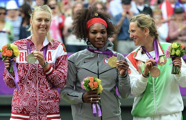 Maria Sharapova, Serena Williams and Victoria Azarenka - Sputnik International