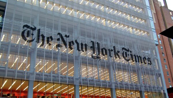 The New York Times building in New York, NY across from the Port Authority. - Sputnik International