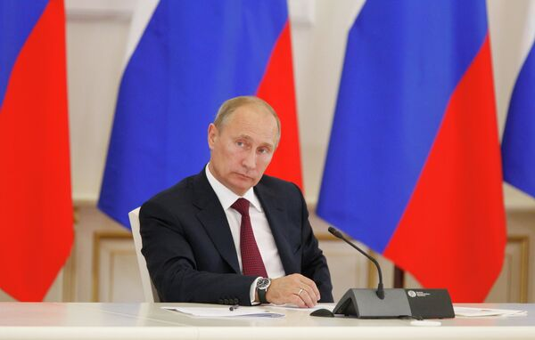 Putin arrived in the Far Eastern city of Vladivostok to take part in the 2012 Asia Pacific Economic Cooperation summit - Sputnik International