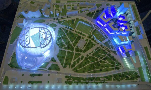 Model of the Dinamo stadium after reconstruction - Sputnik International