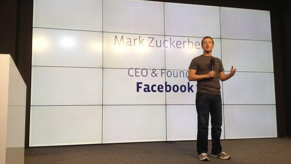 Facebook's Zuckerberg Claims One Billion Users - Sputnik International
