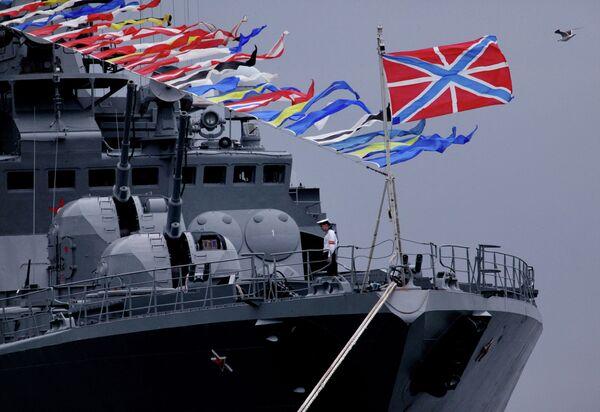 Navy day celebrated in Russian city of Vladivostok in 2012 - Sputnik International