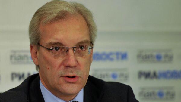 Russia's envoy to NATO Alexander Grushko during press conference - Sputnik International