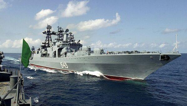 Russian destroyer Marshal Shaposhnikov - Sputnik International