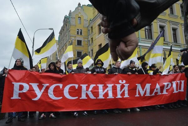Russian Nationalists March in Moscow. November 4, 2012 - Sputnik International