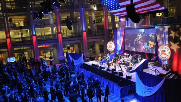 It's election night in America and across the country groups are gathering at events like the Republican National Committee's watch party in Washington at the Ronald Reagan building. - Sputnik International