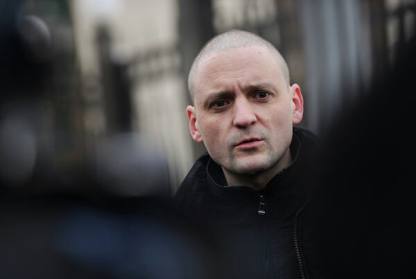 Left Front coordinator Sergei Udaltsov - Sputnik International
