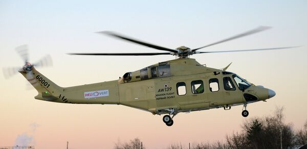 AW139 helicopter assembled in Russia - Sputnik International