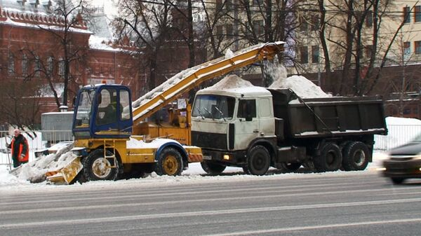 Snow Clearing Operations in Moscow - Sputnik International