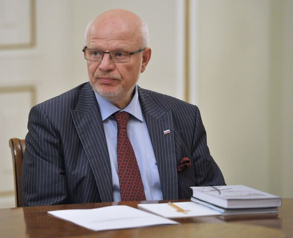 Chairman of Russia's Presidential Human Rights Council (HRC) Mikhail Fedotov - Sputnik International