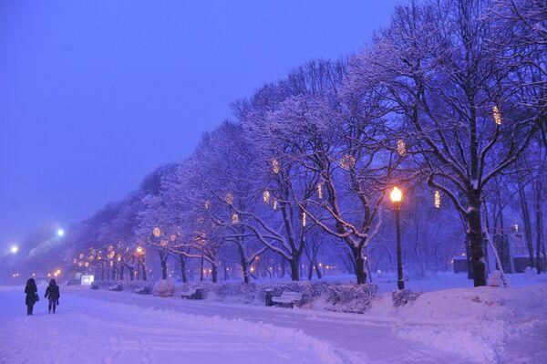 Heavy Snowfall Blankets Moscow - Sputnik International