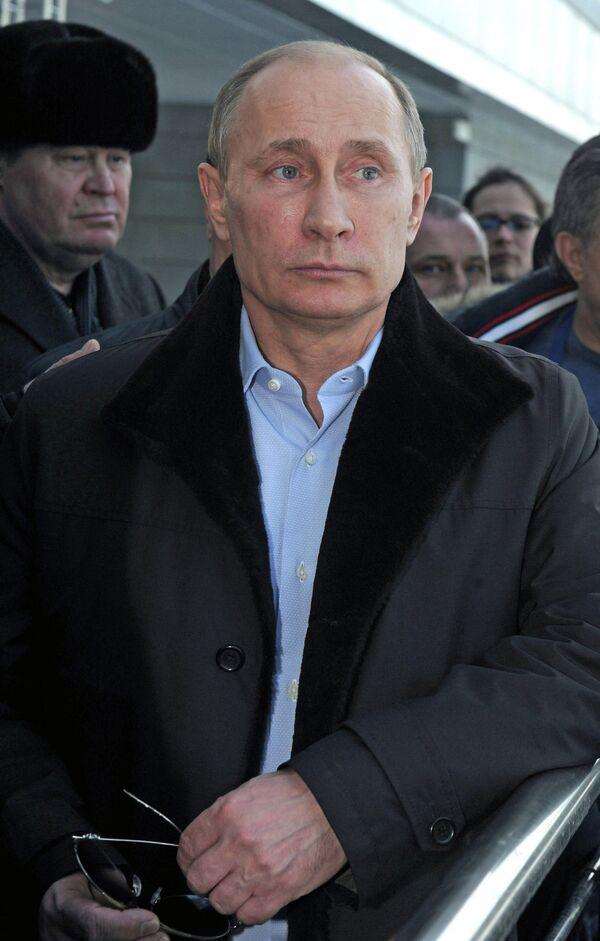 Russian President Vladimir Putin on a visit to the Olympic Park - Sputnik International