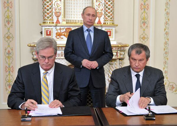 Rosneft, ExxonMobil Sign Alaska Gas Field Deal - Sputnik International