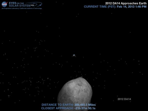 Asteroid 2012 DA14's current distance from Earth - Sputnik International