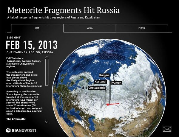 Meteorite Fragments Hit Russia - Sputnik International