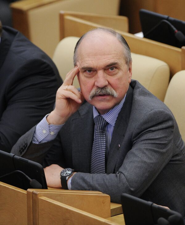 The head of the Russian parliament's ethics committee, Vladimir Pekhtin - Sputnik International