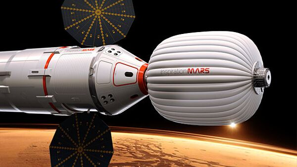 One of the prototype space capsules being considered for the Inspiration Mars mission - Sputnik International