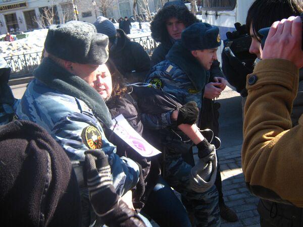 Moscow Police Make Arrests After Feminist Protest - Sputnik International