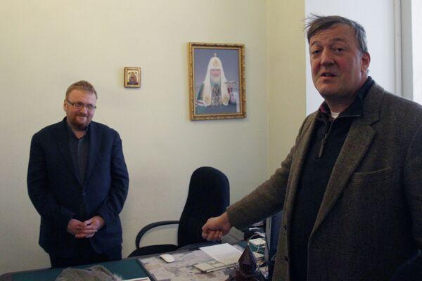 Vitaly Milonov and Stephen Fry - Sputnik International