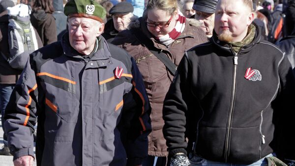 Latvian SS Veterans March - Sputnik International