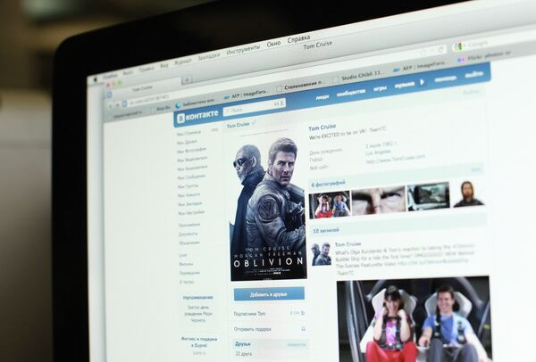 Tom Cruise opened an account on Russia's most popular social networking site VKontakte - Sputnik International