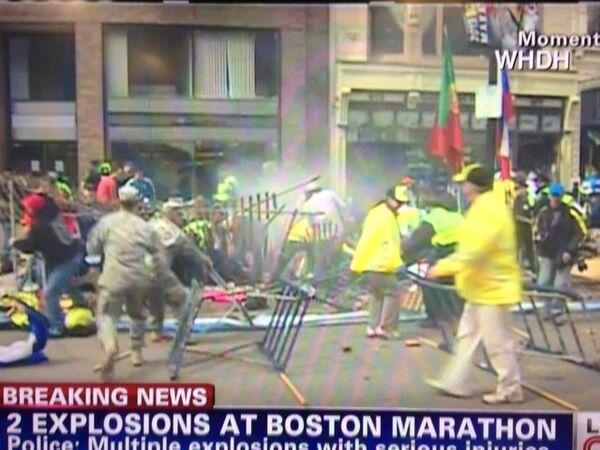 Boston Marathon explosion - Sputnik International