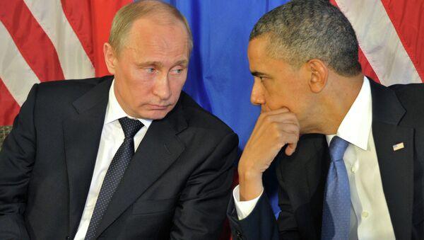 Vladimir Putin and Barack Obama. Archive - Sputnik International