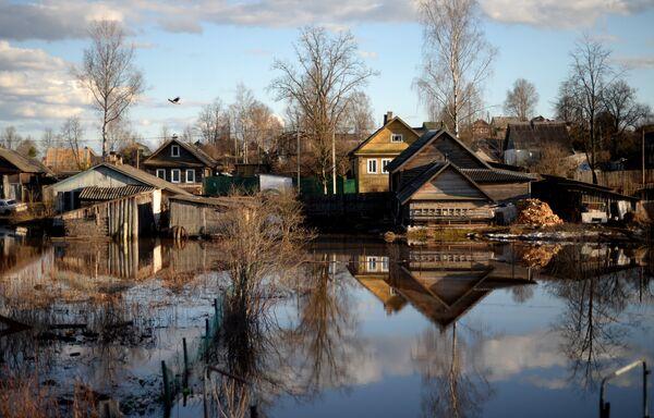 Flooded houses in Novgorod Region villages - Sputnik International