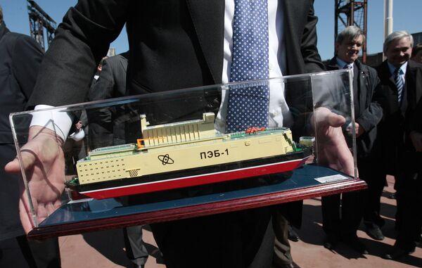 Model of the floating nuke plant - Sputnik International
