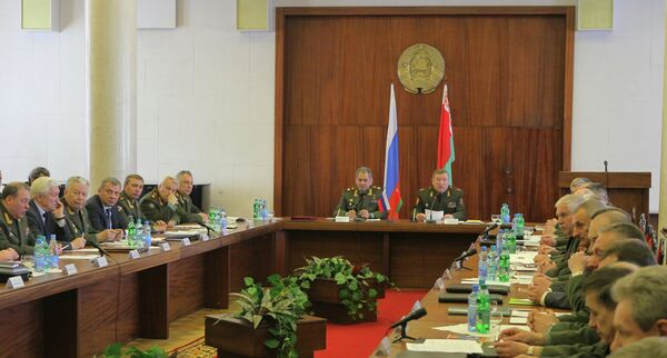 Meeting of the joint board of the Russian and Belarusian defense ministries in Minsk - Sputnik International
