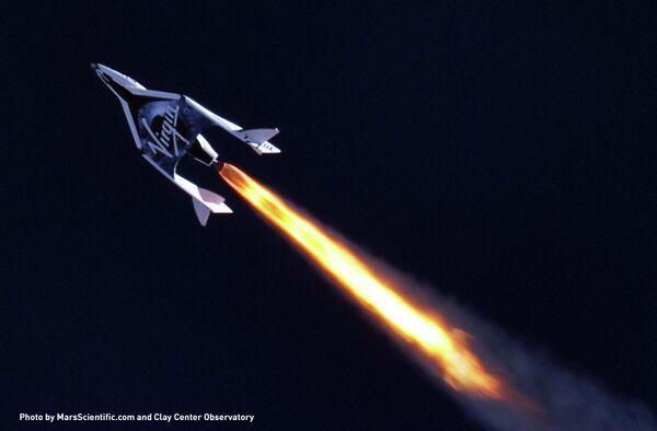 Virgin Galactic Fires Rocket Engine in Flight - Sputnik International