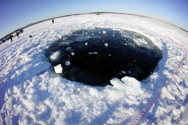 The biggest of seven major chunks that the celestial body fragmented into ended up in the local Chebarkul Lake - Sputnik International