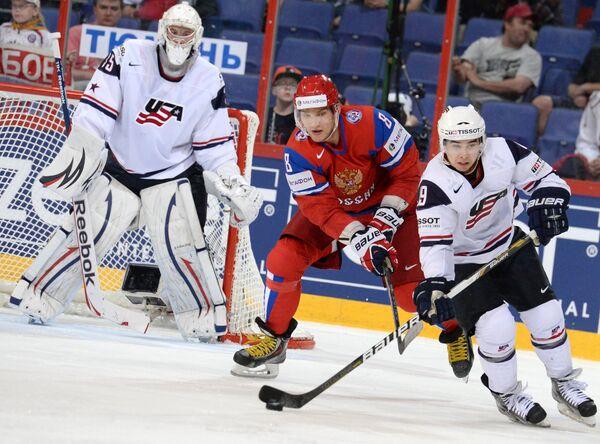 Russia Hammered by US in Hockey Worlds Quarters - Sputnik International