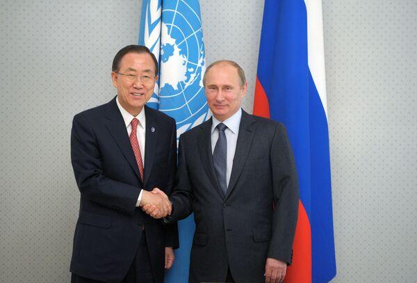UN Head Seeks Putin Support For OlympicTruce - Sputnik International