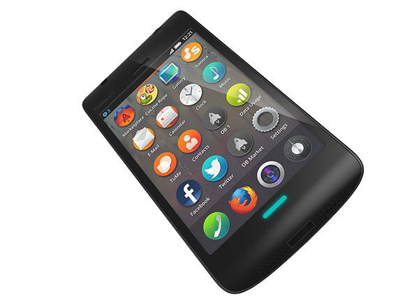 A mock-up of what the Firefox OS smartphones will look like. - Sputnik International