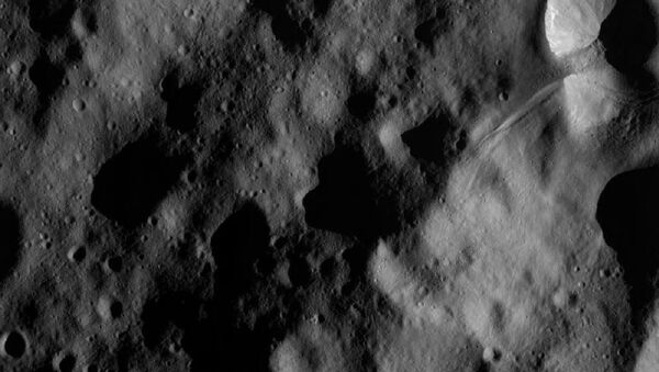 A picture of the giant Vesta asteroid taken by a NASA spacecraft in November 2012. - Sputnik International
