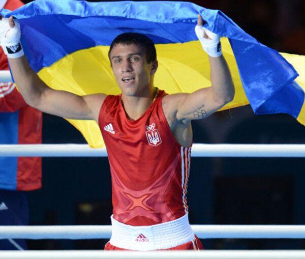 Ukrainian boxer Vasily Lomachenko at the 2012 Olympics in London - Sputnik International