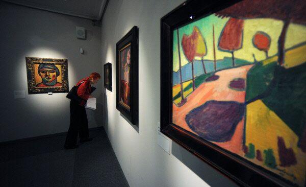 Paintings by Wassily Kandinsk on display in Munich, Germany, in 2011 - Sputnik International