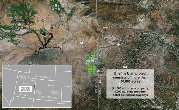 Enefit has acquired a lease to a large tract of land in containing oil shale in eastern Utah. - Sputnik International