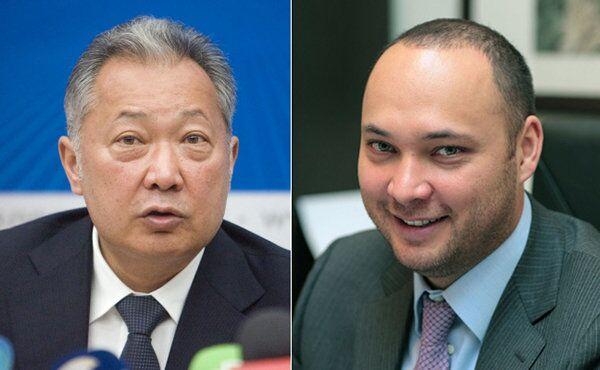 Former Kyrgyz President Kurmanbek Bakiyev, left, and his son Maxim Bakiyev - Sputnik International