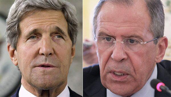 US Secretary of State John Kerry and Russian Foreign Minister Sergei Lavrov - Sputnik International