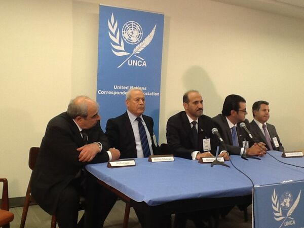 Syria Rebel Leaders Hold Talks at UN, Urge Russia to End Assad Support - Sputnik International