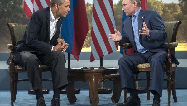 The last time Vladimir Putin and Barack Obama met was at the G8 summit in Northern Ireland in June. - Sputnik International