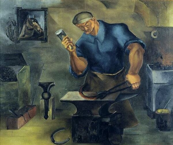 The Blacksmith by Leon Garland is on display at the Illinois State Museum. - Sputnik International